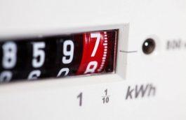 Display of an energy meter