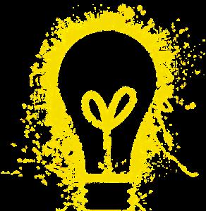 Ampoule électrique jaune
