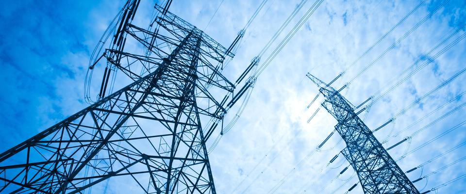 Pylons and electricity network