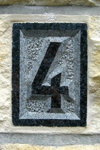 A house number