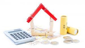 home, calculator, money