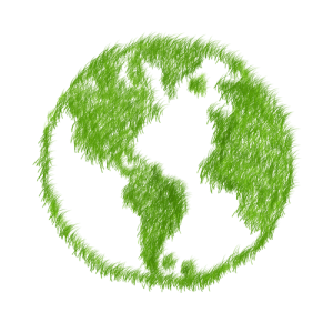 The Earth, green